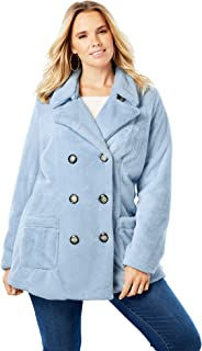 Women's Plus Size Double Breasted Peacoat