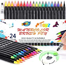 Watercolor Brush Pens,24 Watercolor Markers + 1 Water Brush, Real Nylon Brush Pens for Artists, Beginners, Adults and Kids...