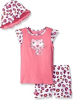 Gerber - Conjunto de Camisa, Gorro y Gorro de tulipán para bebé niña (3 Piezas)