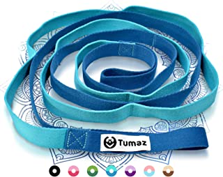 Tumaz Stretch Strap - 10 Loops & Non-Elastic Band - The Ideal Home Workout Stretching Strap for PT(Physical Therapy), Yoga...