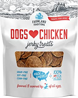 Farmland Traditions Filler Free Dogs Love Chicken Premium Jerky Treats for Dogs
