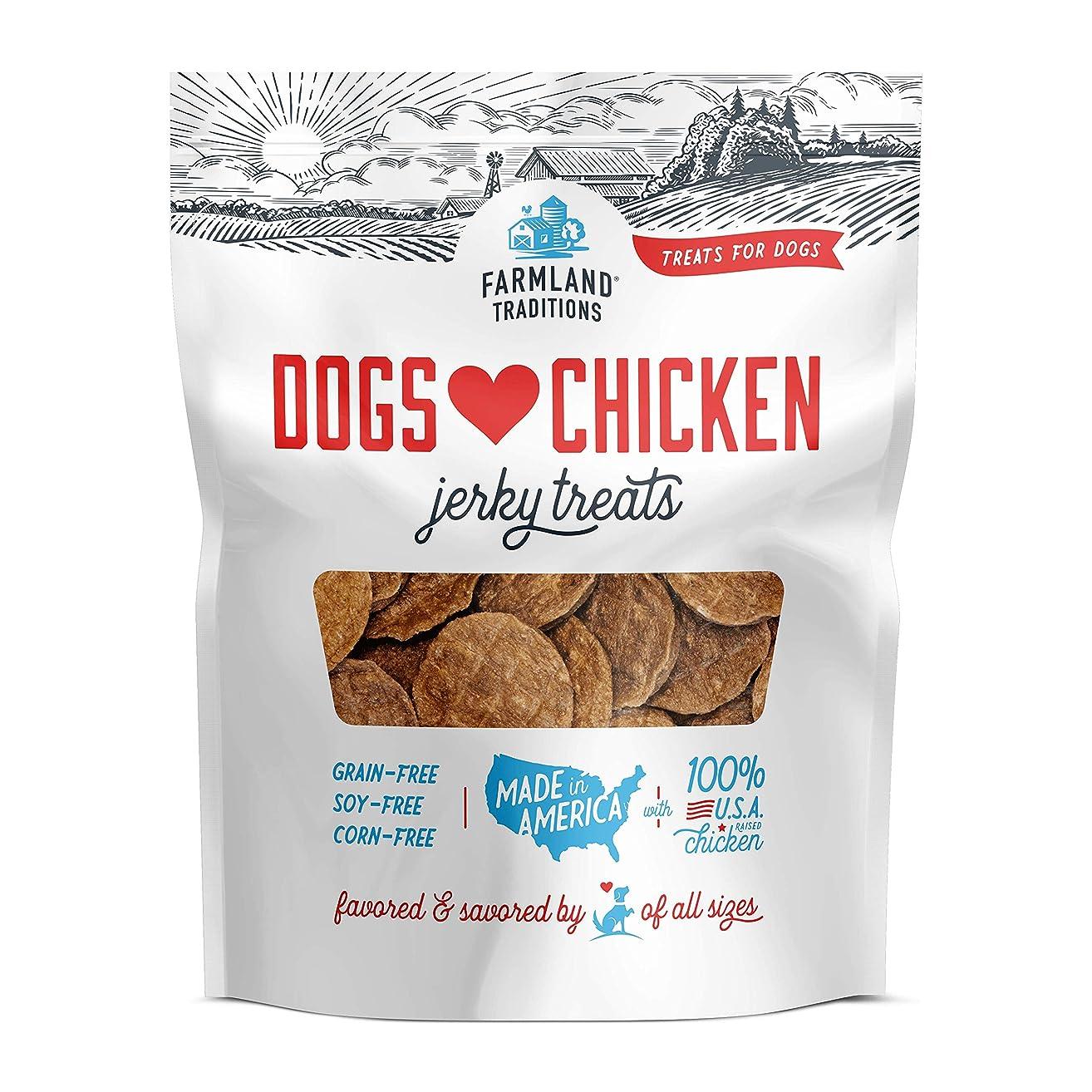 Farmland Traditions USA Made Dogs Love Chicken Jerky Treats