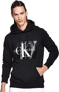 CALVIN KLEIN Jeans Men's Monogram Box Logo Regular Fit Hoodie, Bright White, 2XL