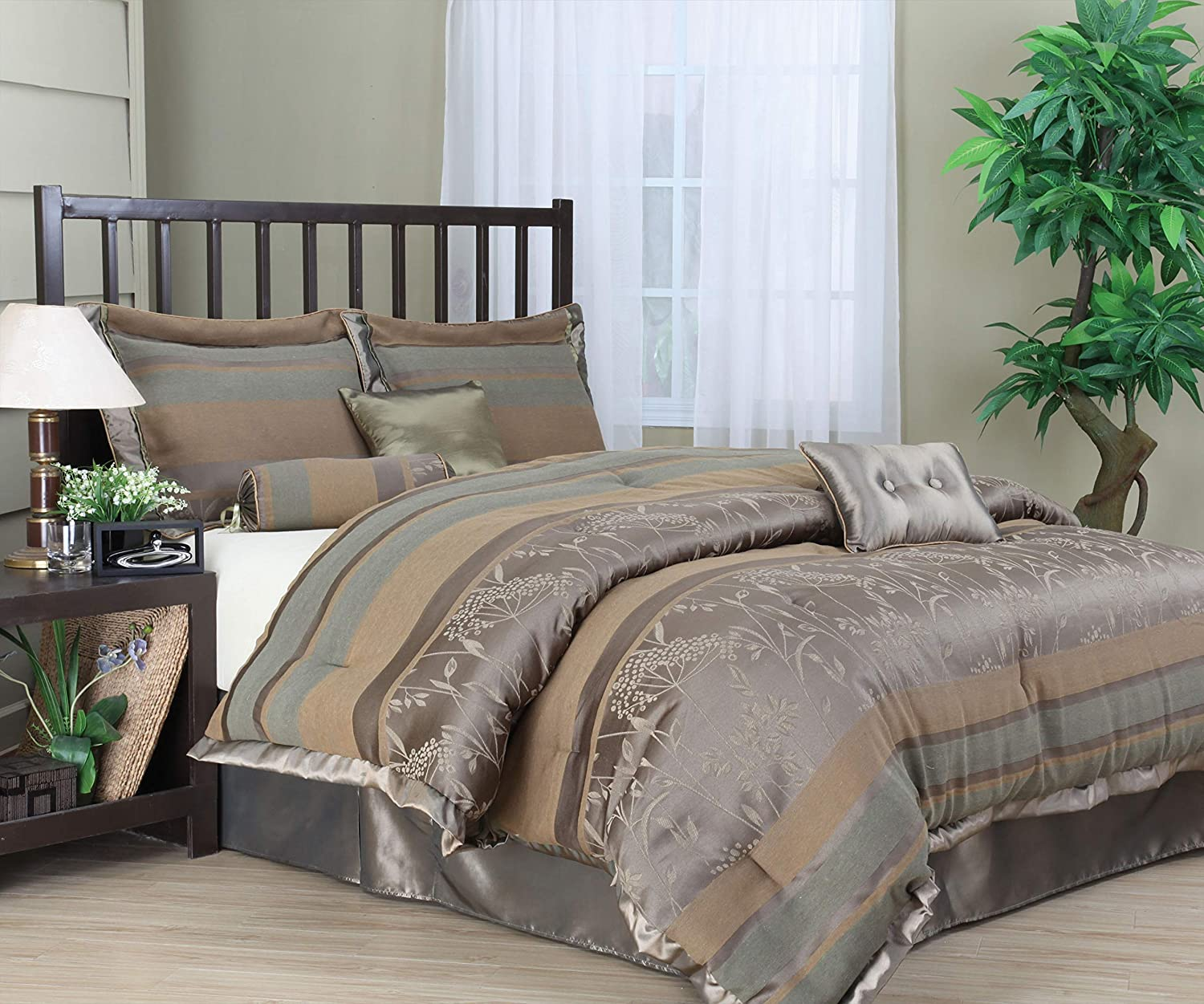 Stratford Park Victoria Comforter 70% Ranking TOP13 OFF Outlet Taupe Set Full