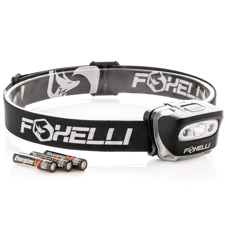 Foxelli Headlamp Flashlight Lightweight Waterproof