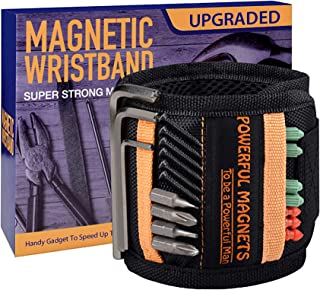 Tools For Men Magnetic Wristband, 15 Upgrade Super Strong Magnets, Best Dad Gift, Unique Gifts...