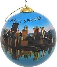 Pittsburgh Skyline Glass Ornament
