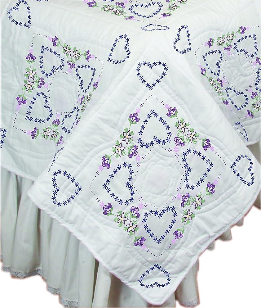 Fairway 95013 Delightful Hearts Stamped Quilt Blocks (6 Pack), 18