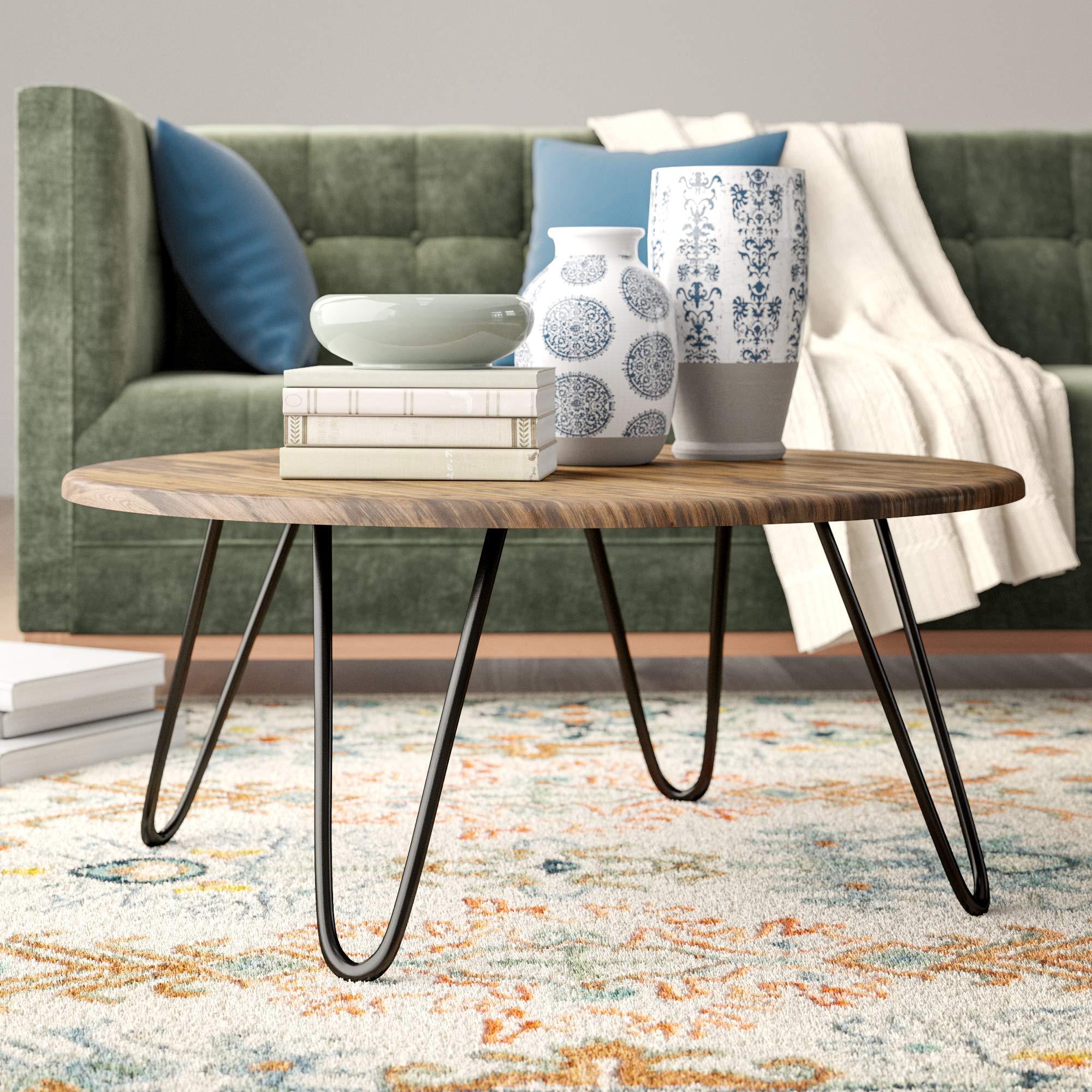 - Aspect Brockton Round Coffee Table, Wood, Vintage 1, 80 X 80 X 35