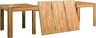 Nordic Story Table de salle à manger extensible XL 160 – 280 cm en bois massif chêne, idéale pour cuisine, salon, meubles ...