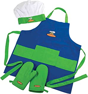 Curious Chef, 4-Piece Child Chef Textile Set for Girl or Boy