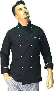 Giacca chef con ricamo gratuito divise da cuoco giacche pantaloni cucina,bandana