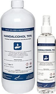 Hand Alcohol Desinfectie Spray 70% Gedenatureerd met IPA, MEK en Bitrex 250 ml + 1 liter