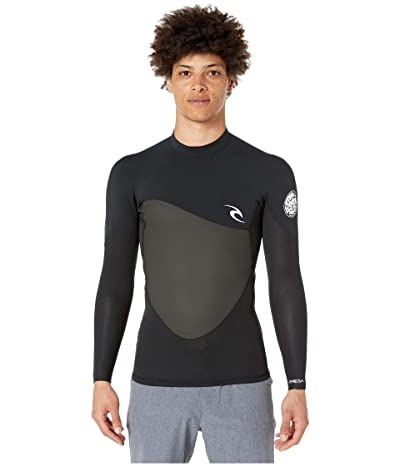 Rip Curl 1.5 mm Omega Long Sleeve Jacket (Black) Men