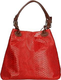 Aren - Shoulder Bag Borsa a Spalla da Donna in Vera Pelle Made in Italy - 32x28x16 Cm