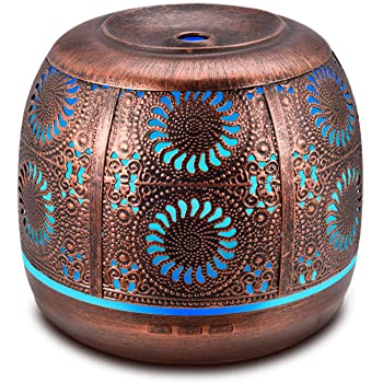 Ominihome Essential Oil Diffuser, 500ml Metal Diffuser For Essential Oils With Waterless Auto Shut-Off Protection, Ultrasonic Cool Mist Humidifier, Aromatherapy Diffuser for Home Decor, Large Room