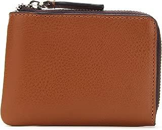 Genuine Leather Slim Zipper Minimalist wallet, Credit Card, ID & Cash Holder