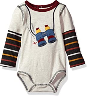 Mud Pie Baby Boys' Happy Camper Long Sleeve Layered Crawler