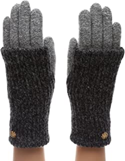 Women's Winter Wool Blend Double Layer Knitted Warm Gloves