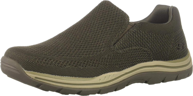 Skechers Men's Expected- Gomel Driving Style Loafer, OLBR, 7.5 Medium US