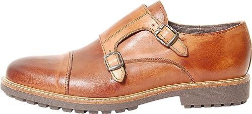 Antica Calzoleria Campana Schuhe   Mod. 9501   Monkstrap   Kalbsleder   braun oder schwarz