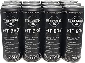 FITBRū - Café Mocha Nitro Cold Brew: Supports Stress, Energy Focus, Mood