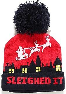 Adult Fashion Cuffed Knit Ugly Christmas Beanie Hat