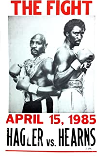 hagler hearns poster