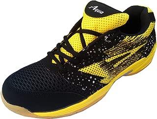 Aqua Sports Unisex Yellow Badminton Shoes