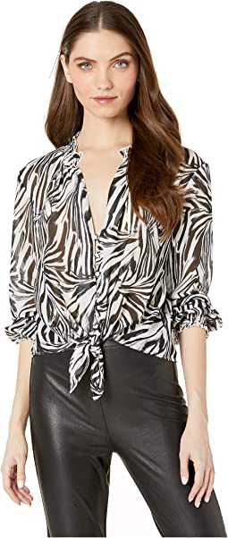 Black/White Zebra Print