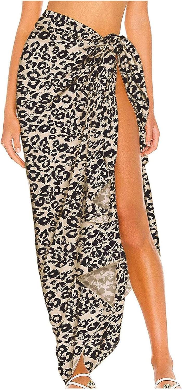 JNBGYAPS Woman Dress Work,Women Printed Swimsuit Cover Up Mesh Bikini Swimwear Beach Cover-Ups Wrap Skirt Woman Skirt for Easter Black