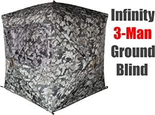 Muddy Infinity 3-Man Ground Blind with Surround View Shadow Mesh Eliminates Blind Spots