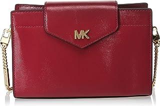 حقيبة سي ان في متوسطة الحجم بتصميم طويل يمر بالجسم للنساء من مايكل كورس، ارجواني داكن - 32H9GOXC2A
