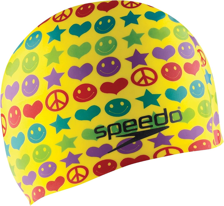 SpeedoシリコンJunior '記号' Swim Cap