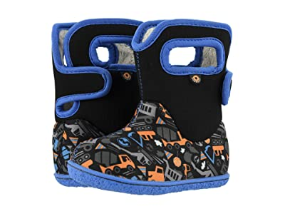 Bogs Kids Baby Bogs Construction (Toddler) (Black Multi) Boys Shoes
