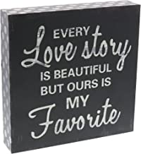 Barnyard Designs Every Love Story is Beautiful Wooden Box Wall Art Sign, Primitive..