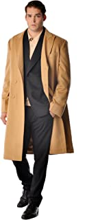 Men's Double Breasted Coat Overcoat Topcoat in 100% Pure Cashmere (2 Colors, Sizes: 38/40/42/44/46/48/50)