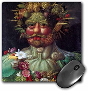 3dRose Mouse Pad Rudolph II As Vertummus by Giuseppe Arcimboldo - 8 by 8-Inches (mp_128032_1)
