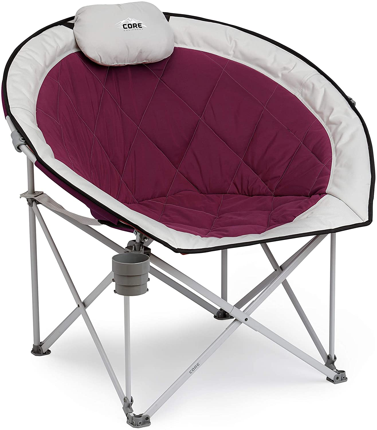 Core Equipment Folding Oversized Padded Denver Mall Round Moon Chair 40% OFF Cheap Sale Saucer