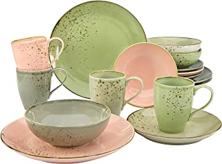 Creatable Nature Collection 20298 Vintage Garden Crockery Set 16-Piece