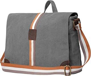 Rustic Town 15 inch Vintage Crossbody Canvas Laptop Messenger Bag