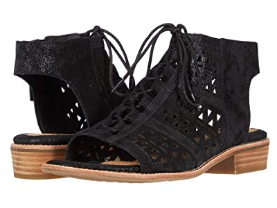 Sofft Nora (Black Distressed Foil Suede) Women