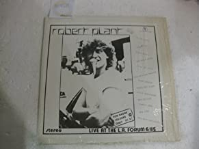 Robert Plant Live At The L.A. Forum From International Records June 1985 Bootleg Vinyl