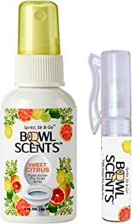 Bowl Scents Mini 2 ounce | 300 sprays | Triple action toilet spray | Traps odors in the bowl | Leaves lite scent | Designed for | Home | Travel | Gifting | Includes a Mini Traveler