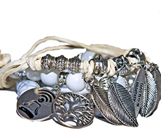Bracelet sets, Couples bracelets, Meditation set bracelets unisex, Yoga bracelets, Mindfulness gift, Meditation gift set, ...