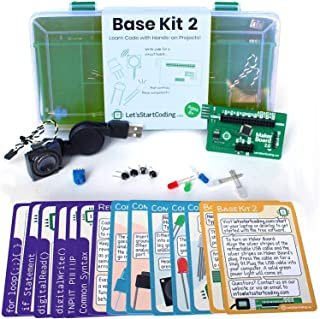 Base Kit 2 - New for 2019- for Boys and Girls 8,9,10,11,12 to Learn Computer Programming and Circuits - Over 50 Free Online Projects to Teach S.T.E.A.M. Skills