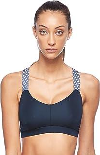 BodyTalk Women's Sports Bra With Athletic Back, Blue (Ocean), Small