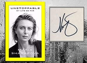 Maria Sharapova UNSTOPPABLE My Life So Far Signed Hardcover Book