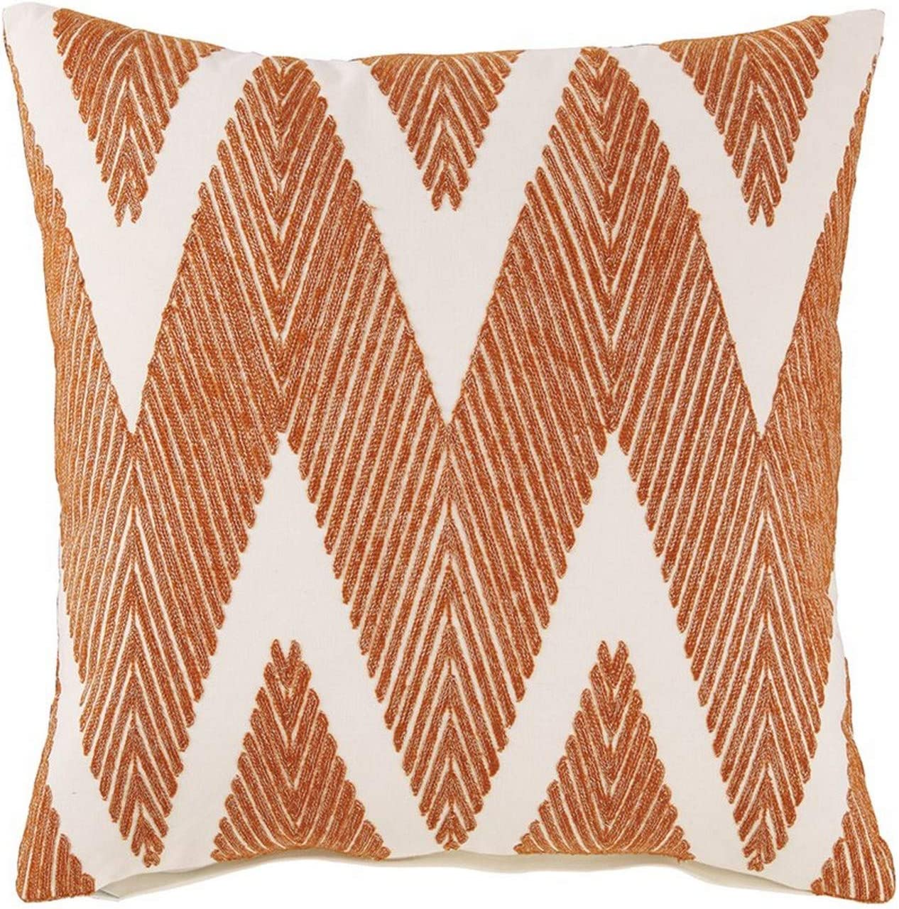 Benjara 20 x Super intense SALE Zippered Cotton Herringbone Pillow with Al sold out. P Accent