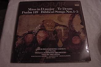 DVORAK: Mass in D Major / Te Deum / Psalm 149 / Biblical Songs Nos. 1-5